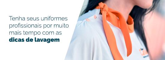 Banner no artigo de camisetas universitárias para ebook sobre lavagem de uniformes
