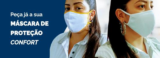 Banner para orçamento da máscara de proteção para empresas Confort Serfer
