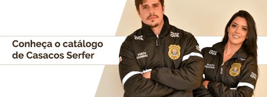 """Banner no artigo """"Modelos de uniformes"""" para catálogo de Casacos Serfer"""